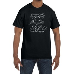 Associate with men of good quality … Men's Crewneck T-Shirt
