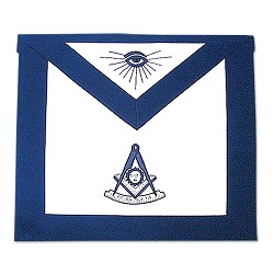 Past Master Masonic Apron - [Blue & White]