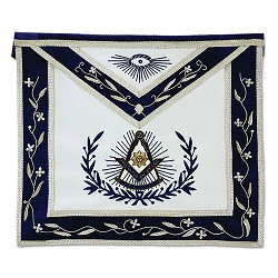 Past Master Masonic Apron with Embroidered Border