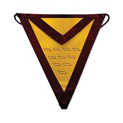 17th Degree Scottish Rite Masonic Apron - [Maroon & Gold]