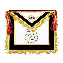 32nd Degree Scottish Rite Masonic Apron - [Black & Gold]