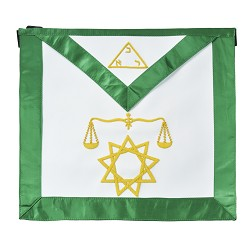 8th Degree Scottish Rite Masonic Apron - [Green & White]