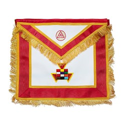 Fringed High Priest Royal Arch Masonic Apron - [Red & Gold]