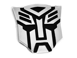 Transformer Autobot Auto Emblem - [Chrome][5'' Tall]
