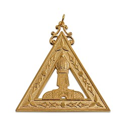 King Royal Arch Masonic Officer Jewel - [Gold] - RAC-1