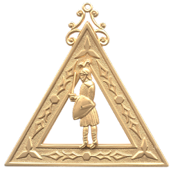 Captain of the Host Royal Arch Masonic Officer Jewel - [Gold] - RAC-12
