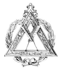 Grand Secretary Royal Arch Grand Chapter Masonic Officer Jewel - [Gold] - RAC-24