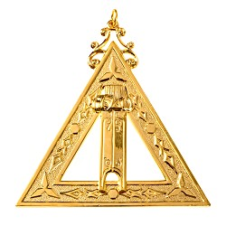 Scribe Royal Arch Masonic Officer Jewel - [Gold] - RAC-4