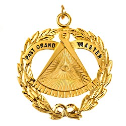Past Grand Master Grand Lodge Masonic Officer Jewel  - RBL-35