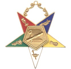 Conductress Order of the Eastern Star Masonic Officer Jewel - [Gold][2 1/2''] - RES-10
