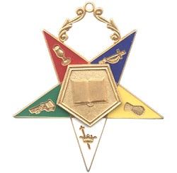 Chaplain Order of the Eastern Star Masonic Officer Jewel - [Gold][2 1/2''] - RES-12
