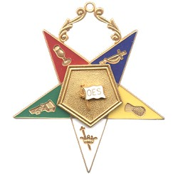 Flag Bearer Order of the Eastern Star Masonic Officer Jewel - [Gold][2 1/2''] - RES-22