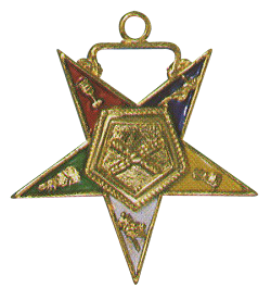 Marshal Order of the Eastern Star Masonic Officer Jewel - [Gold][1 1/2''] - RES-36