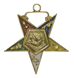 Warder Order of the Eastern Star Masonic Officer Jewel - [Gold][1 1/2''] - RES-39