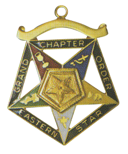 Grand Associate Patron Order of the Eastern Star Grand Chapter Masonic Officer Jewel  - RES-56