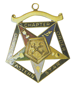 Grand Treasurer Order of the Eastern Star Grand Chapter Masonic Officer Jewel  - RES-58
