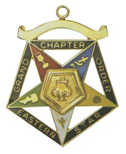 Grand Organist Order of the Eastern Star Grand Chapter Masonic Officer Jewel  - RES-66