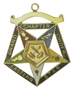Grand Past Matron Order of the Eastern Star Grand Chapter Masonic Officer Jewel  - RES-67