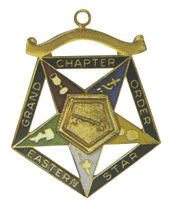 Grand Trustee Order of the Eastern Star Grand Chapter Masonic Officer Jewel  - RES-76
