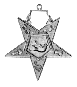 Warder Order of the Eastern Star Masonic Officer Jewel - [Gold][2''] - RES-88