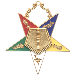 Associate Conductress Order of the Eastern Star Masonic Officer Jewel - [Gold][2 1/2''] - RES-9