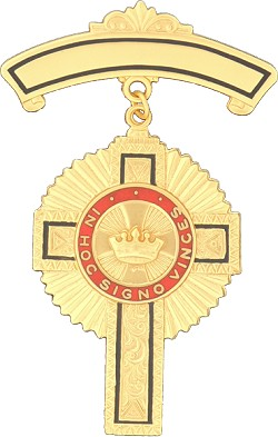 Past Commander Knights Templar Masonic Officer Breast Jewel - [Gold] - RKT-16