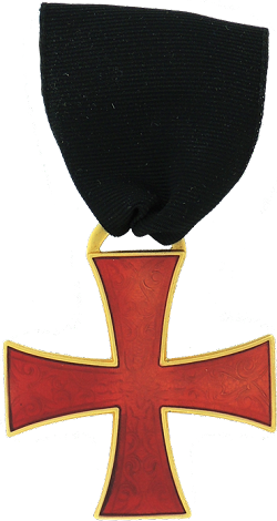 Red Cross Knights Templar Masonic Officer Breast Jewel - [Gold] - RKT-19