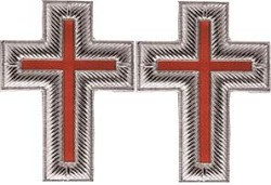 Cross Knights Templar Sleeve Jewel  - RKT-26