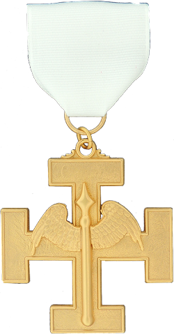 Hospitaller 32nd Degree Scottish Rite Officer Jewel - [Gold] - RSR-51
