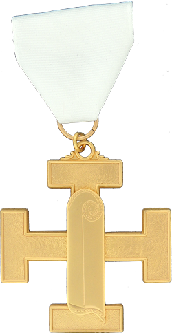 Engineer and Seneschal 32nd Degree Scottish Rite Officer Jewel - [Gold] - RSR-52