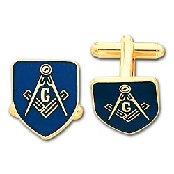 Blue Lodge Masonic Cufflink Pair - MAS1562CL