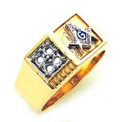 Blue Lodge Masonic Ring - GLC764BL