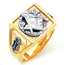 Blue Lodge Masonic Ring - GLC880BL