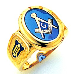 Blue Lodge Masonic Ring - GLCS1141BL