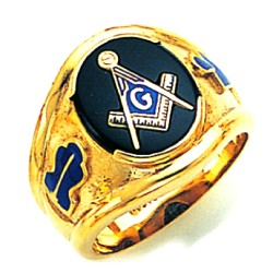 Blue Lodge Masonic Ring - GLCS1145BL