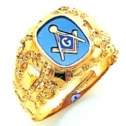 Blue Lodge Masonic Ring - GLCS1199BL