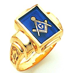 Blue Lodge Masonic Ring - GLCS434MSBL