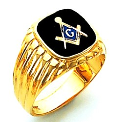 Blue Lodge Masonic Ring - HOM389BL