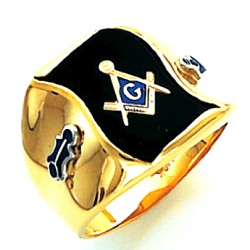 Blue Lodge Masonic Ring - HOM505BL