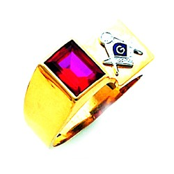 Blue Lodge Masonic Ring - HOM630BL