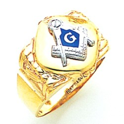 Blue Lodge Masonic Ring - MAS1679BL