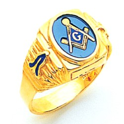 Blue Lodge Masonic Ring - MAS1757BL