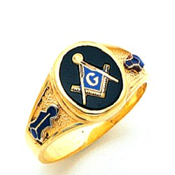 Blue Lodge Masonic Ring - MAS60341BL