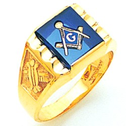 Blue Lodge Masonic Ring - MAS60437BL
