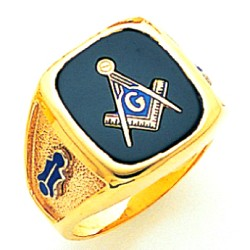 Blue Lodge Masonic Ring - MAS60987BL