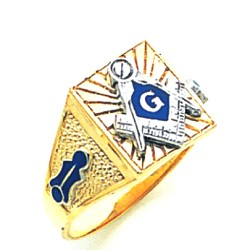 Blue Lodge Masonic Ring - MAS61380BL