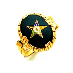 Order of the Eastern Star Masonic Ring - GLC57360ES