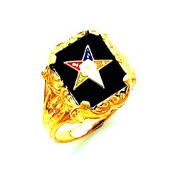 Order of the Eastern Star Masonic Ring - HOM405ES