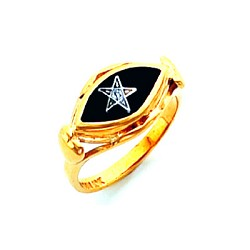 Order of the Eastern Star Masonic Ring - HOM730ES