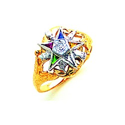 Order of the Eastern Star Masonic Ring - MAS1309ES